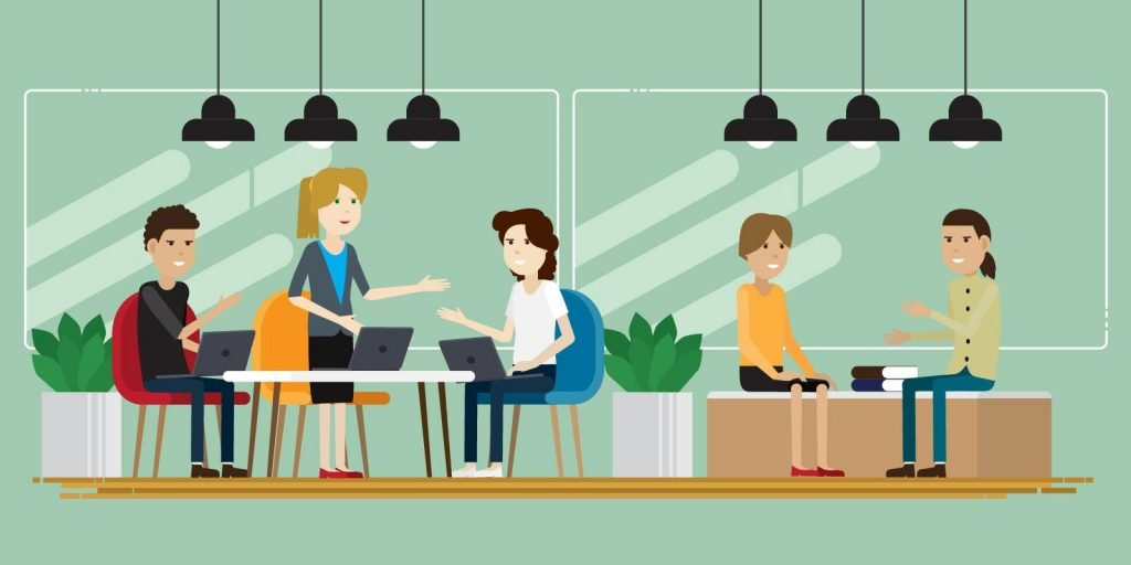 illustration of what co-working could look like