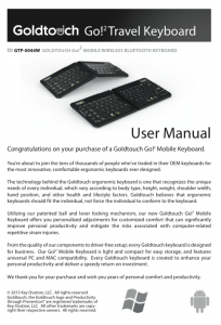 GTP-0044 Goldtouch Go!2 Mobile Keyboard (USB) User Guide