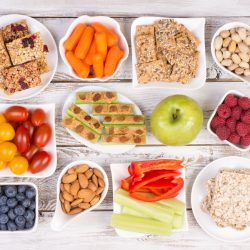 vegetables, grains and fruits