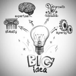 hand drawing the big idea diagram creative at work