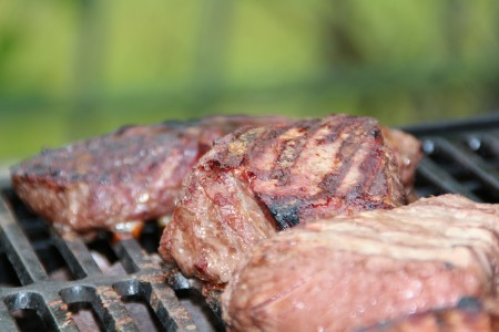 Meat on Grill Father's Day