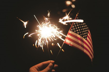 4th of July sparkler flag