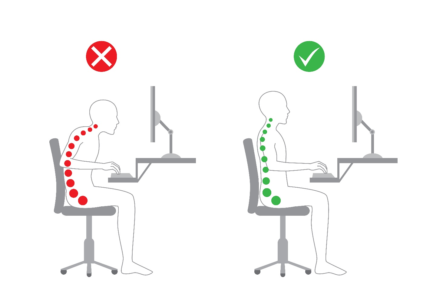 Keeping Good Posture At Work Goldtouch
