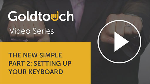 The New Simple, Part 2: Setting up your Goldtouch keyboard
