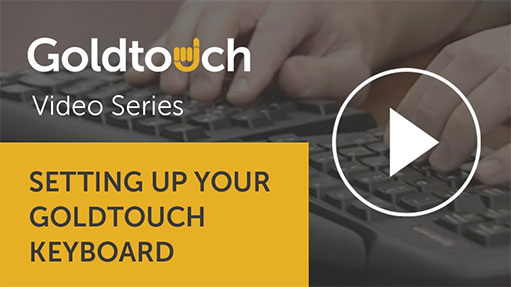 Setting up your Goldtouch keyboard — 2 minute video