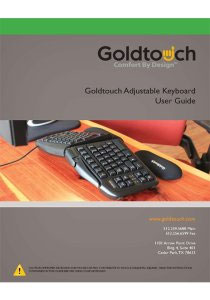 Goldtouch Adjustable Keyboard User Guide