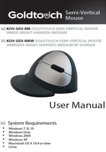 Semi-Vertical Mouse User Manual