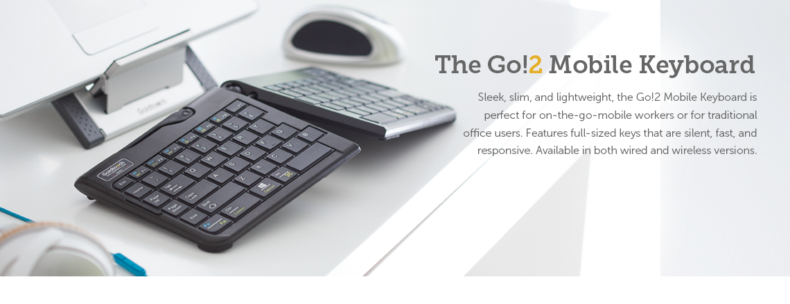 Go!2 Mobile Ergonomic Keyboard