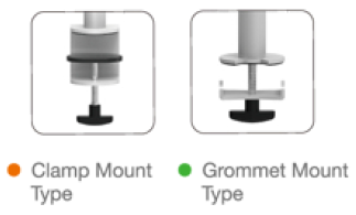 mount styles for monitor arms