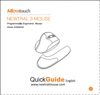 Newtral 3 Wireless Ergonomic Mouse User's Manual