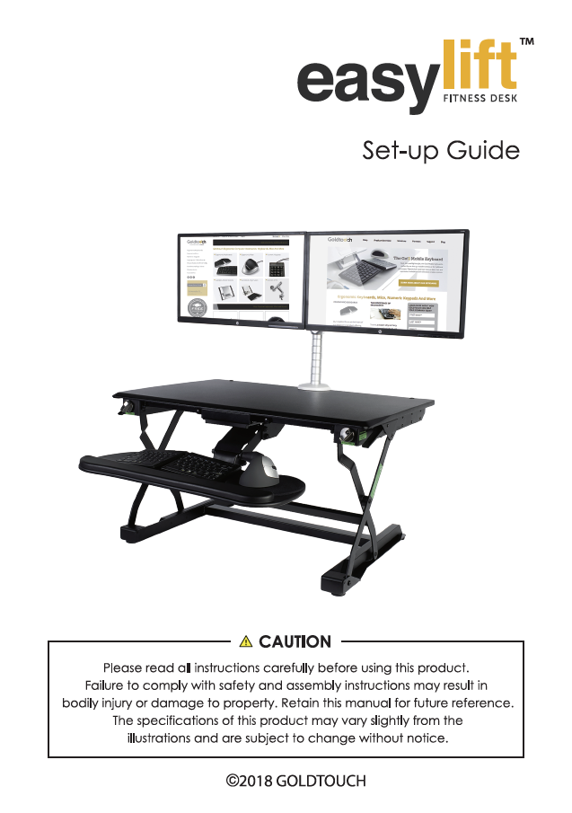 Goldtouch EasyLift Desk Manual