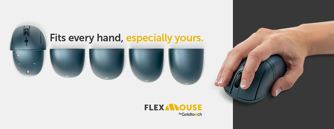 Flex Mouse | Fits every hand | Goldtouch