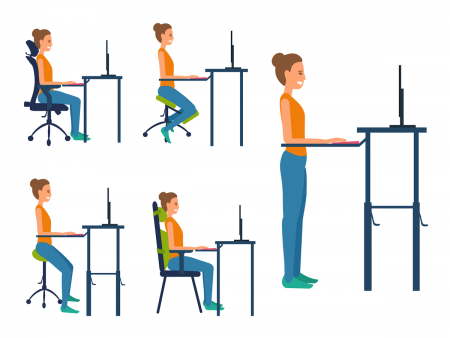 Office Typing Posture