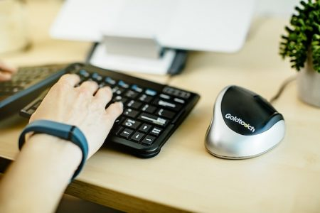 Goldtouch Ergonomic Mouse in use