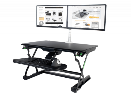 Ergonomic Desk and Monitor Setup