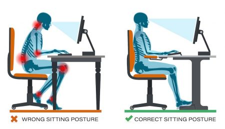 Wrong Sitting Posture Correct Sitting Posture