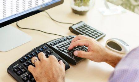 ergonomic keyboard for injuries