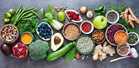 healthy foods on table