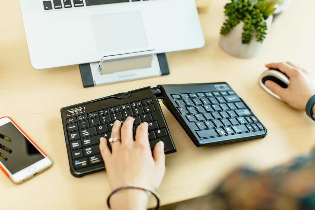 Ergonomic Keyboard, Ergonomic Mouse, Ergonomic Laptop Stand. Goldtouch Go!2 Bluetooth Mobile Keyboard, Goldtouch Comfort Mouse, Goldtouch Laptop and Tablet Stand.