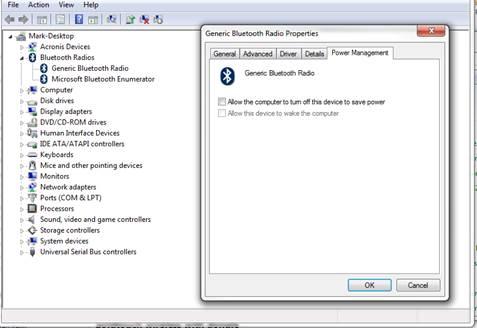 Windows Power Management Screen